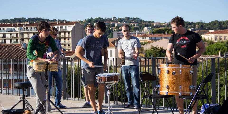 Concert sur les terrasses