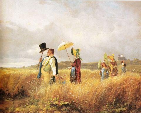 La promenade du dimanche (Carl Spitzweg)